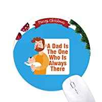 ファーザーラヴズ クリスマスツリーの滑り止めゴム形のマウスパッド