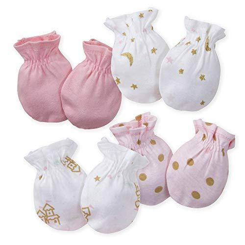 Gerber Baby Girls 4-Pair Mittens, Princess Arrival, 0-3 Months