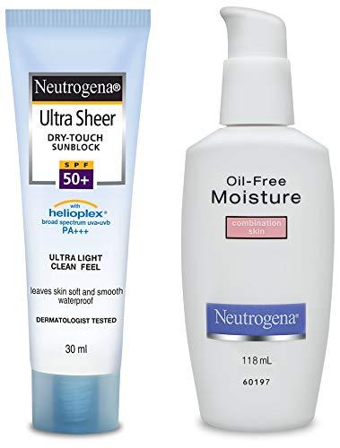 Neutrogena Ultra Sheer Dry Touch Sunblock, SPF 50+, 30ml and Neutrogena Oil...