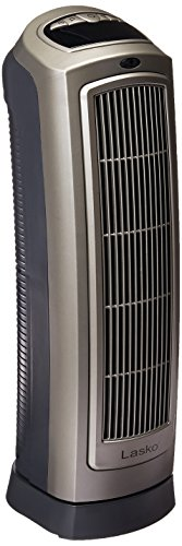 Lasko Oscillating Ceramic Heater with Digital Display – Calefactor Black, Silver
