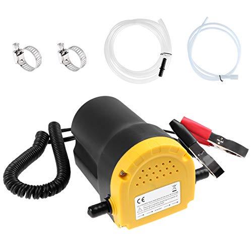 Coolty 12V 60W Ölsaug-Spülpumpe, Wechselabzieher, Öltransferpumpe Diesel für PKW/Motorräder/Boote // Wohnwagen/LKW