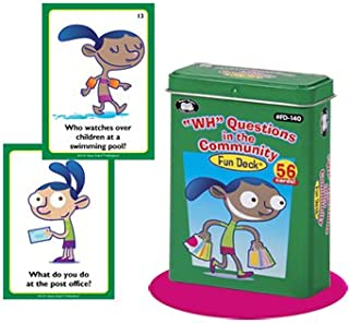 Super Duper Publications WH Questions in the Community Fun Deck Flash Cards Educational Learning Resource for Children