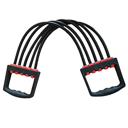 Auoeer Empacador de Pecho de expansión de Pecho para Hombres - 5-Resorte Cofre Cofre Expansor Pull Stronger Formación Muscular