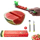 Yueshico New kitchen gadgets stainless steel one step cutter watermelon cubes slicer and corer