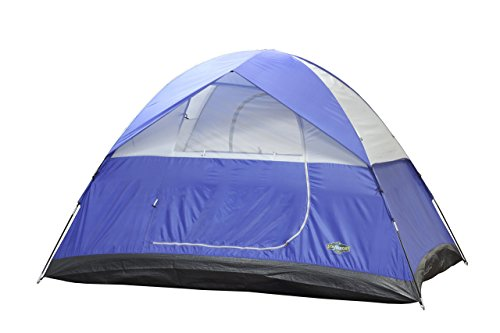 Stansport Teton Dome Tent, 10 x 8 x 72-Inch, Blue/Tan