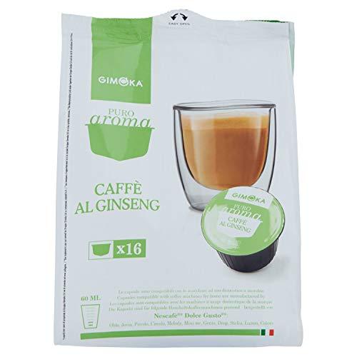 Capsule Compatibili Dolce Gusto by Gimoka - Caffè al ginseng, (16 capsule per confezione)