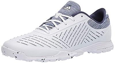 adidas Women's W Adipure Sport 2.0 Golf Shoe, FTWR White/Silver Metallic/Tech Indigo, 7 Medium US