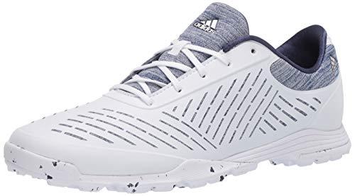 adidas Women's W Adipure Sport 2.0 Golf Shoe, FTWR White/Silver Metallic/Tech Indigo, 9 Medium US