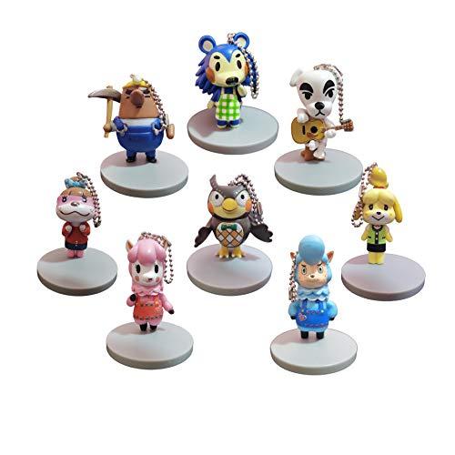 Llavero con figura de Animal Crossing Un conjunto de 8 cajas ciegas periféricas hechas a mano de la Asociación de Amigos de Animal Crossing