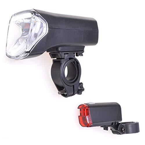 Filmer Fahrrad LED Beleuchtungs-Set 70 LUX 1W, mit verschiedenen Helligkeitsstufen
