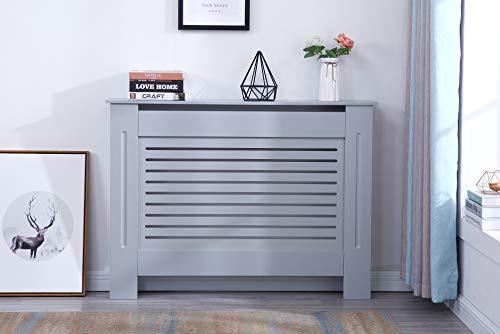 Furnituremaxi Yakoe Moderne Heizkörperabdeckung Holz MDF Wandschrank in 4 Größen, Holzwerkstoffe, grau, M
