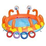 YAMMY Piscina para niños Ocean Ball, Piscina Inflable Juego para bebés Piscina de Pesca engrosadora Piscina para niños