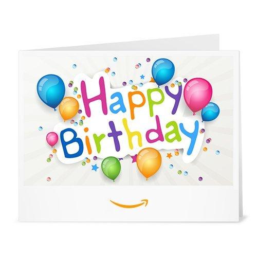 Cheque Regalo de Amazon.es - Imprimir - Cumpleaños de todos los colores