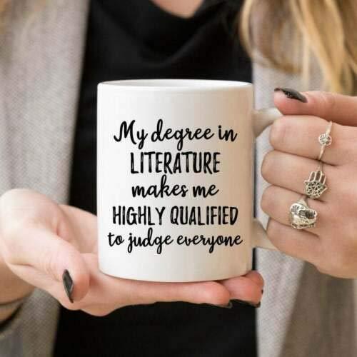 N\A Regalo Literatura Graduación Literatura Grado Regalo- Taza de café