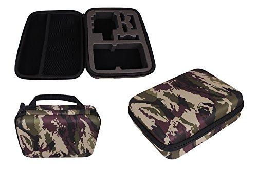 MTB More Energy® Schutztasche (XL) für GoPro Hero 6 / Hero 5 / Hero4, Hero3(+) - Camouflage/Tarnfarben - Koffer Hülle Bag