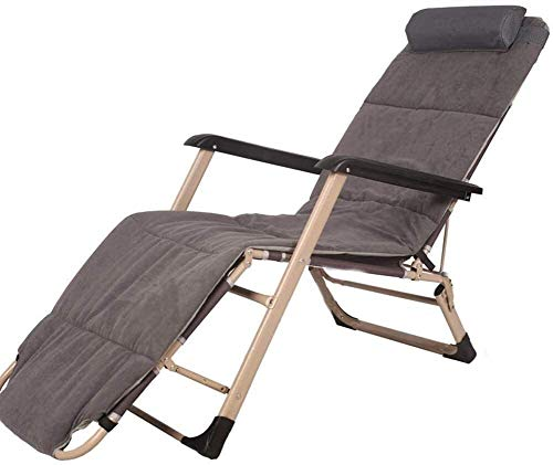 N/Z Living Equipment Liegesessel Sessel Stühle Liegestuhl Gartenstuhl Liegestuhl Esszimmerstuhl Mittagspause Rückenlehne Lazy Beach Haushaltsbett (Farbe: Rot)