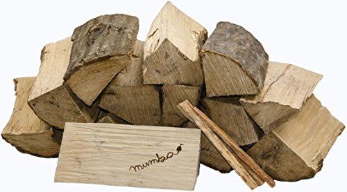 15 kg mumba® Brennholz Kaminholz reine Buche ofenfertig kammergetrocknet in 25cm Länge + 3 Kg Anfeuerholz