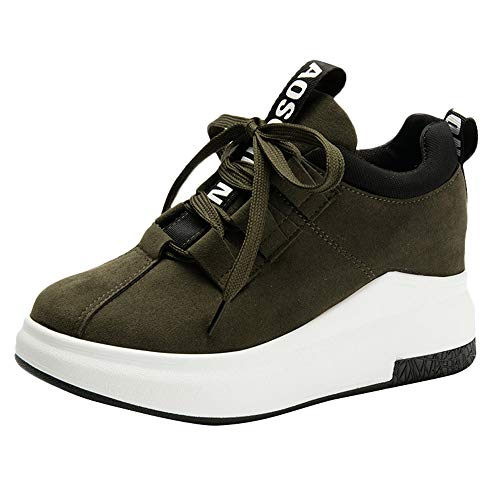 Honestyi Baskets Hautes Femme Sneakers à Lacets Chaussures de Running Fitness Footwear Casual Sport Shoes Casual Classiques Respirant Chaussures Sneakers Dame Baskets