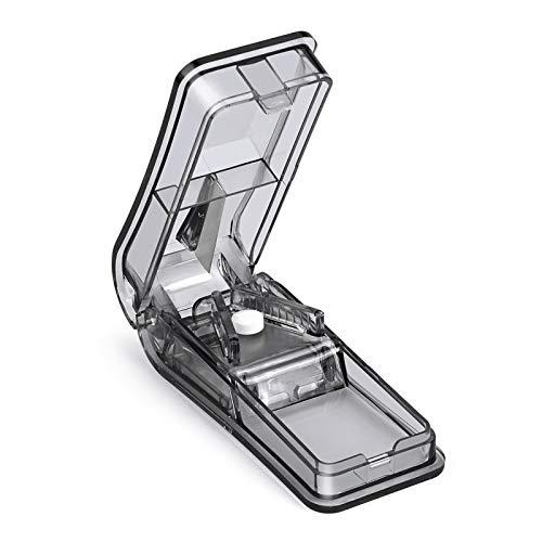 Opret Tablettenteiler für Große und Kleine Tabletten Für Tabletten in ein Halbes Viertel Schneiden Schwarz