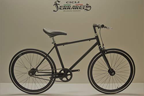 Cicli Ferrareis Fixed Scatto Fisso Vintage Single Speed Nera Fixed 24x1.3/8 Completamente Personalizzabile