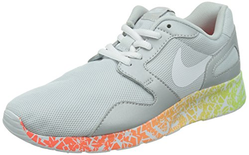 Nike Damen Kaishi Run Print Laufschuhe, Mehrfarbig (Metallic Platinium/White-Flash Lime-Hot Lava 010), 40 EU