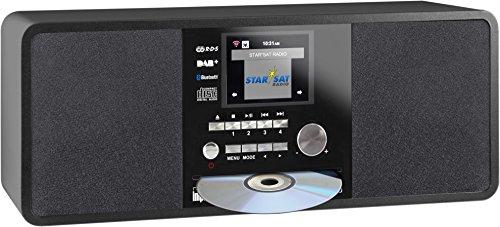 Imperial 22-236-00 Dabman i200 Internet-/DAB+ Radio mit CD-Player (Stereo Sound, UKW, WLAN, Aux In, Line-Out, Kopfhörer Ausgang, Inklusiv Netzteil) schwarz