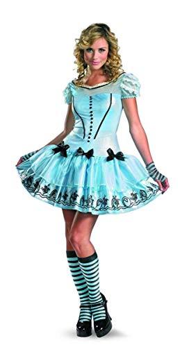 Disguise Women's Alice In Wonderland Movie Sassy Dress Costume, Light Blue, Medium
