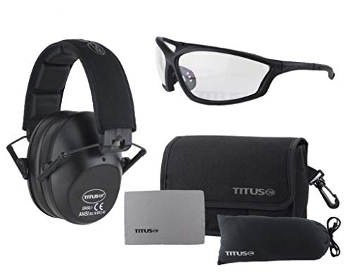 Titus 2 Series - 34 NRR Slim-Line Hearing Protection & G26...
