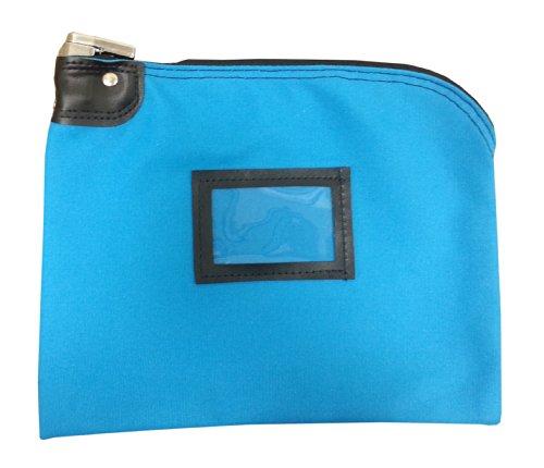 Locking Bank Bag Canvas Keyed Security (Deep Sky Blue)