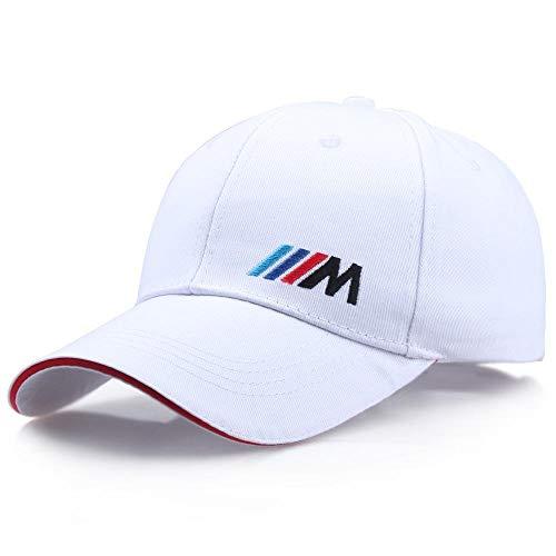 Baseballmütze Cap Racing Logo 100% Baumwolle Papa Hut Auto Aktivität Bestickte Baseballkappe Snapback Mode Lässige Werbung Außenkappen Weiss