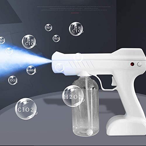 AMDIMOHB Rociador de la pistola de rociado de la desinfección del coche interior Rociador de la luz fuerte de la luz de la luz, la esterilización de la atomización eléctrica Blu Ray Nano Steam Steam S