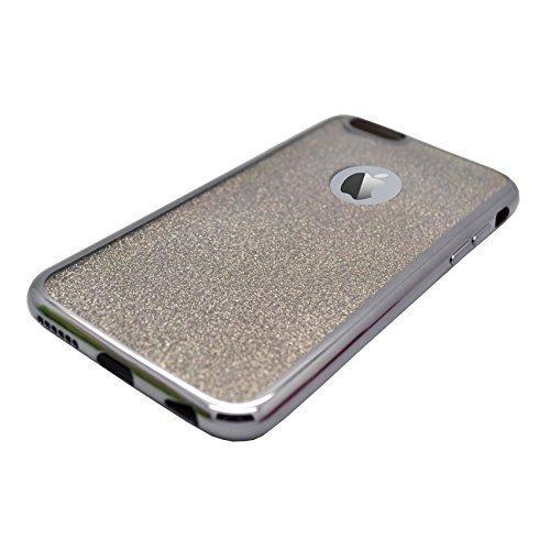 Apple iPhone 5C con purpurina funda ultrafina Negro metal resistente a golpes, tecnología Soft Gel TPU de silicona de Gadget Boxx-