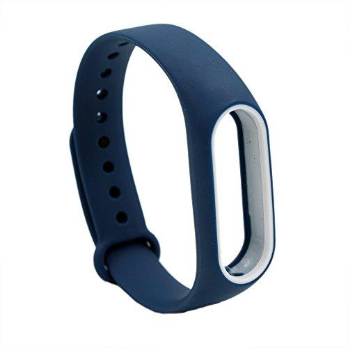 PINHEN Ersatzband Kompatible für Xiaomi Mi Band 2 Armband - Silikon Ersatz Fitness Armband und Uhrenarmband Sportarmband für Xiaomi MiBand 2 (Navy)