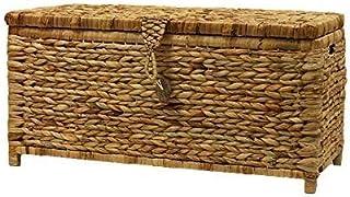 Panier d'algues élégant avec couvercle - boîte de rangement avec poignée, très approprié pour les vêtements de rangement,B...
