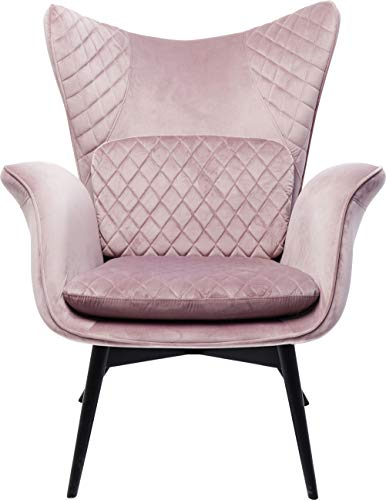 Kare Design - Poltrona Tudor Velvet, Rosa