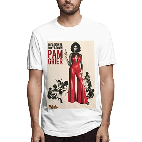Pam Grier Men's Cotton Performance Short Sleeve T-Shirt White L