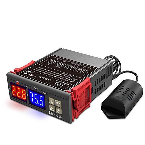 Diymore Controlador digital de temperatura y humedad Termostato DC 12V con AM2120 Sensor para calentador de agua Refrigerador Humidificador Deshumidificador
