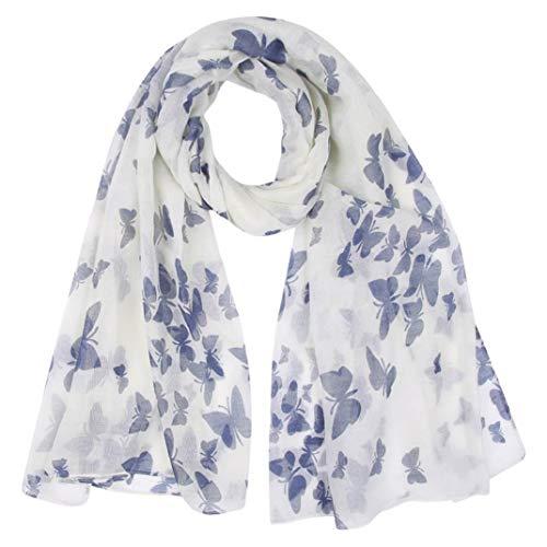 CMTOP pañuelo de seda Mujer Pañuelo de Señora Largo Gasa Delgada y Ligera Bufandas Elegante Fulares Cozy