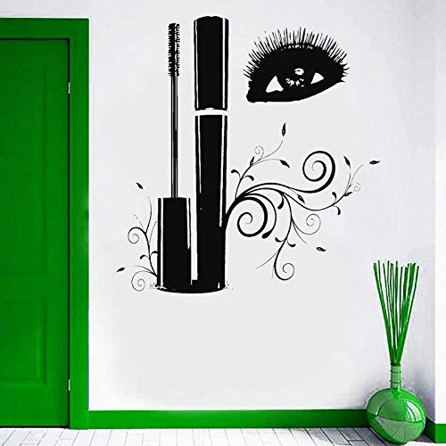 Stickers Muraux Room Decal Makeup Cosmetics Mascara Eyelash Beauty Salon Decals Murals 57X60cm