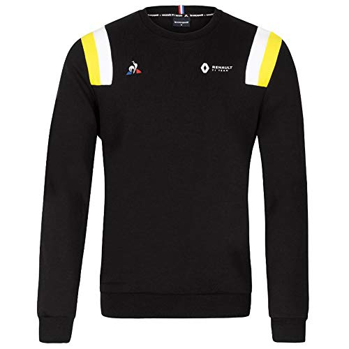 Renault F1 Team 2020 Fanwear Sweatshirts & Jacken Formel 1 Merchandise, Schwarzes Sweatshirt mit Rundhalsausschnitt, Mens (XL) 112cm/44 inch Chest