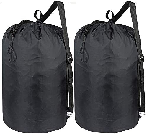 UniLiGis 2 Pack Washable Laundry Bag with Strap Laundry Backpack with Drawstring Combined Use product image