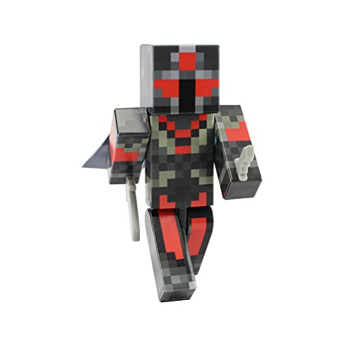 EnderToys Red Knight Action Figure Toy, 4 Inch Custom Series Figurines