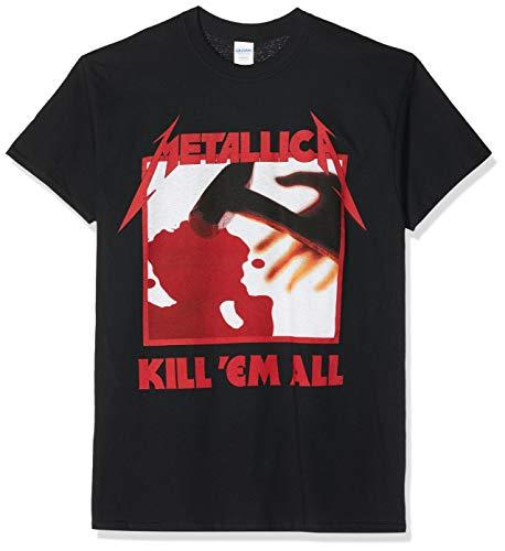 Metallica Kill 'em All Tracks_Men_bl_TS: S Camiseta, Negro (Black Black), S...