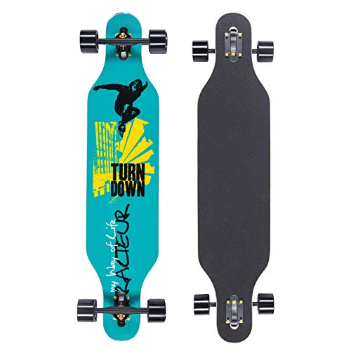 QingAn Longboard Skateboard, 41-Inch Downhill Skateboard Through Deck 8-Layer Maple, Complete Skateboard Cruiser