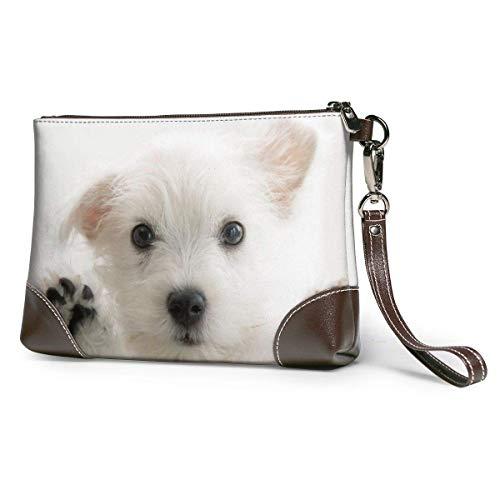 Ahdyr Bolso de mano de cuero para mujer Monederos Carteras para teléfono de embrague Bolso pequeño de cuero para perro bebé Monederos de mano