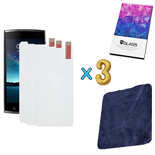 """3-Pack 2.5D Tempered Glass Screen Protector for Unimax UMX U693CL Assurancewireless 5"""" + Premium Suede Soft Cloth That can be reused"""