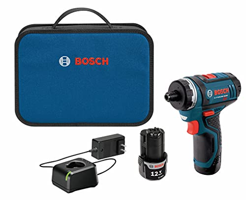 Bosch PS21-2A 12V Max 2-Speed Pocket Driver Kit with 2 Batteries, Charger...