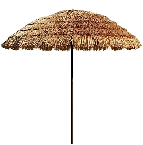 BOYISI Parasol de Paja Hawaiana, Patio a Prueba de Viento Patio Tiki, Paraguas, Paraguas, afuera, Paja, Hawaiano, Paraguas Parasol, Paraguas, Paraguas
