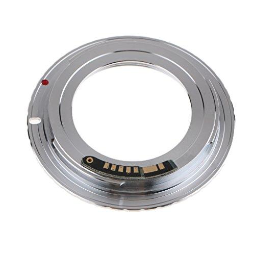 Sharplace Anello Adattatore Montaggio Fotocamera EOS Obiettivo Chip M42 per AF III su per per Canon EOS EF 550D 7D 5D EMF Argento per Fotocamera per per Canon EF