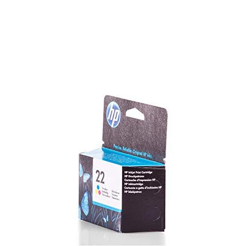 Original HP C9352AE / 22, für DeskJet D 1500 Series Premium Drucker-Patrone, Cyan, Magenta, Gelb, 165 Seiten, 5 ml